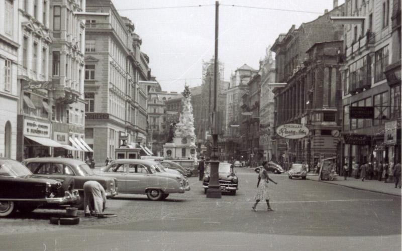 Am Graben, Wien um 1954, © Gerd Hoss / B. Mussil Privatarchiv / vintagevienna.at